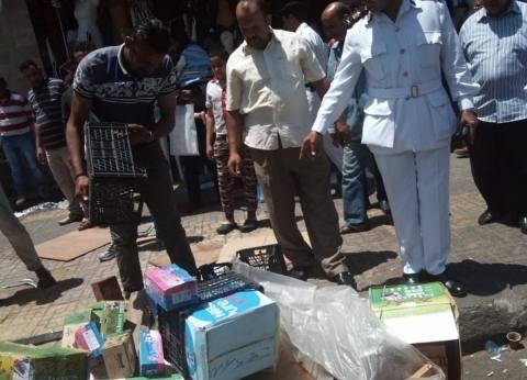 """""""جمرك الإسكندرية"""" يضبط 141 حالة إشغال وينفذ 43 إزالة و12 مخالفة تموين"""