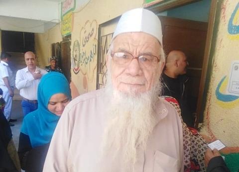 """""""الحاج حسن"""" بالاستفتاء: """"كنت مرافق لابني في المستشفى ونزلت عشان اعمل الصح"""""""