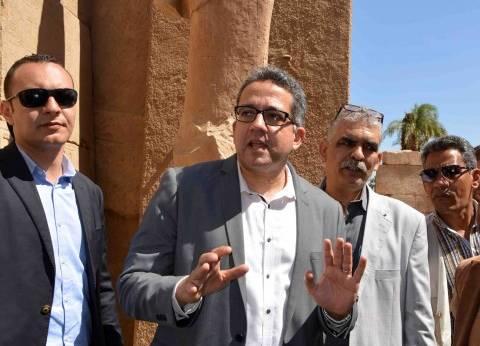 وزير الآثار يصل الأقصر للمشاركة في افتتاح مقابر وأعمال ترميم