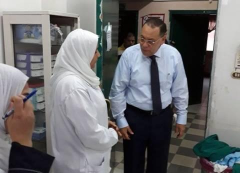 محافظ الشرقية يتفقد مستشفى القنايات لمتابعة سير العمل