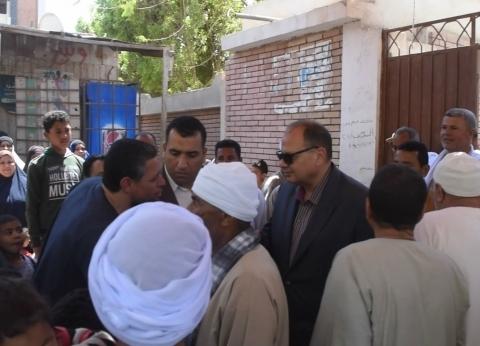 بالصور| محافظ الفيوم يتفقد لجان الاستفتاء على التعديلات الدستورية