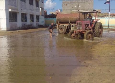 أمطار غزيرة وعواصف رعدية على محافظة الغربية