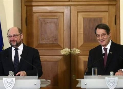 بالصور| أناستاسيادس يلتقي رئيس البرلمان الأوروبي