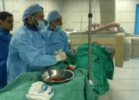 إجراء عملية قسطرة تشخيصية للمخ بمستشفى المنصورة العام الجديد