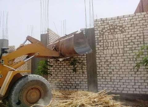 إزالة 12 حالة تعد على الأراضي الزراعية بجرجا في سوهاج