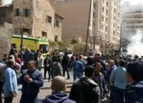 أول صور لانفجار منطقة رشدي بالإسكندرية