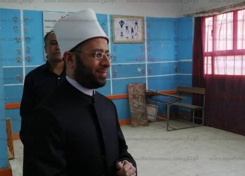 أسامة الأزهري يدلي بصوته في استفتاء التعديلات الدستورية