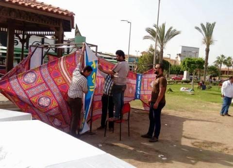 """""""من أجل مصر"""" تحتفل باستقبال رمضان بأكبر فانوس في بورسعيد"""