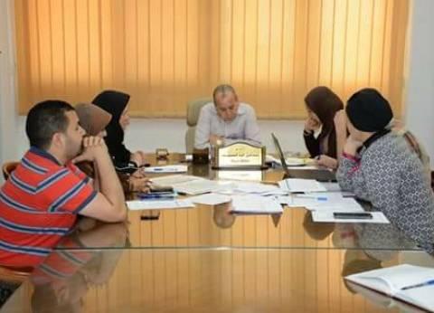 بالصور| محافظ دمياط يعقد اجتماعا مع أعضاء لجنة تقنين أراضي الدولة