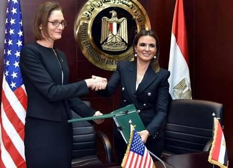 سحر نصر توقع 8 اتفاقيات للتعاون الاقتصادي مع الوكالة الأمريكية