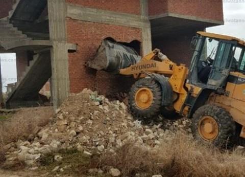 """إزالة 5 حالات تعد على الأراضي الزراعية بـ""""ثان المنتزه"""" في الإسكندرية"""