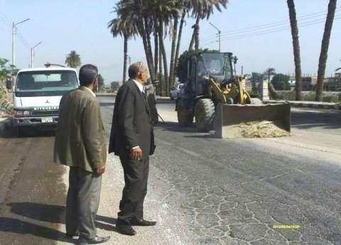 استمرار حملات النظافة والتجميل بمختلف مدن وقرى محافظة سوهاج