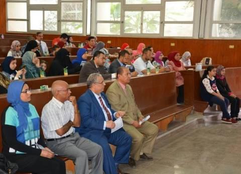 القائم بأعمال رئيس جامعة دمياط يشارك في حفل نادي أعضاء هيئة التدريس