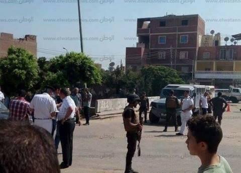 أول صور من موقع الهجوم الإرهابي بالبدرشين في الجيزة