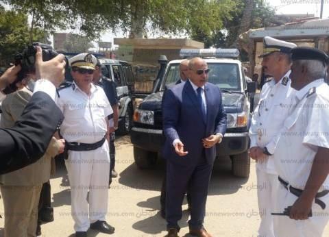 مدير أمن الجيزة يتفقد الخدمات على طريق مصر الإسكندرية الصحراوي