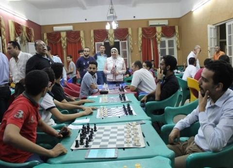 فوز 8 بالبطولة المفتوحة للشطرنج بنادي المنيا الرياضي