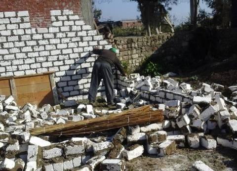 إزالة 14 حالة تعد على الأراضي الزراعية في بني سويف
