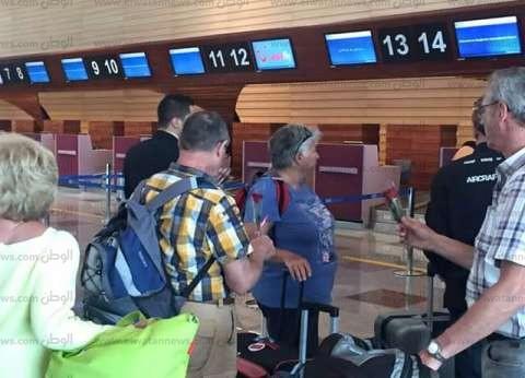 مطار الغردقة يستقبل السائحين البلجيكيين بعبارات التعازي