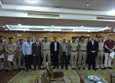 مدير أمن البحيرة يكرم 45 ضابطا وفرد شرطة لتميزهم في العمل