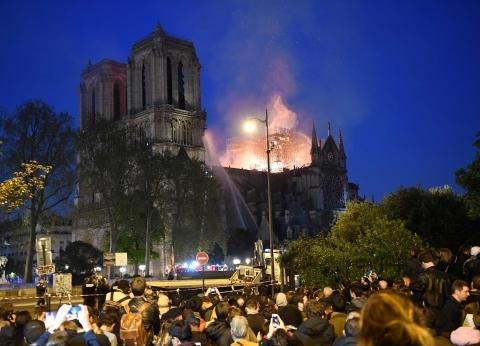 عاجل| فرق الإطفاء تعلن السيطرة على حريق كاتدرائية نوتردام