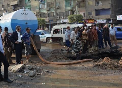 """""""الصرف الصحي"""": انتهاء أعمال إصلاح خط طرد """"السلام 2"""" بعد ساعات من كسره"""