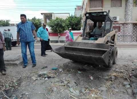 حملات نظافة موسعة بقرى مركز فارسكور