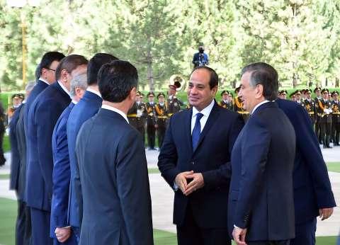 """الرئاسة: الاتفاق على تشكيل فريق عمل """"مصري - أوزبكي"""" لمكافحة الإرهاب"""