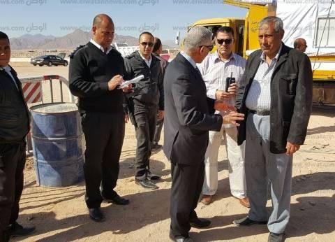 سكرتير عام محافظة جنوب سيناء يتفقد أعمال بناء إدارة مرور شرم الشيخ