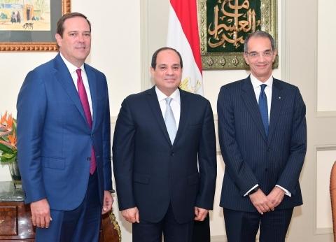 """السيسي: مصر مستعدة لدعم """"سيسكو"""" الأمريكية لزيادة استثماراتها"""