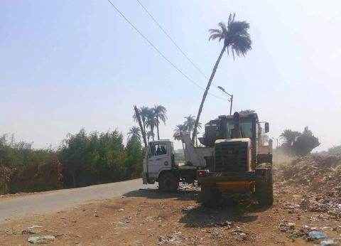 محافظ المنيا: رفع ونقل 155 ألف متر مخلفات خارج الحيز العمراني