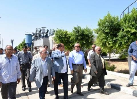 محافظ الشرقية يتفقد محطة معالجة الصرف الصحي بـ«فاقوس»