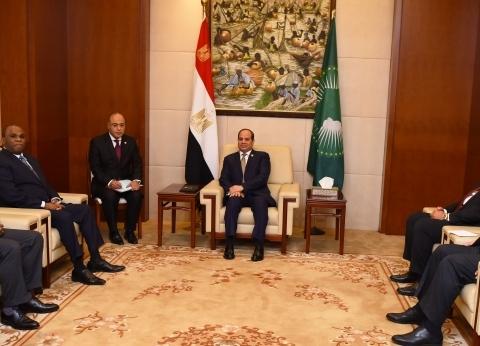 «السيسى»: مصر تعمل بروح الفريق من أجل «أفريقيا قوية»