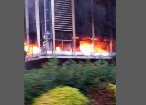 السيطرة على حريق هائل في مخزن أدوات صحية بشبرا الخيمة