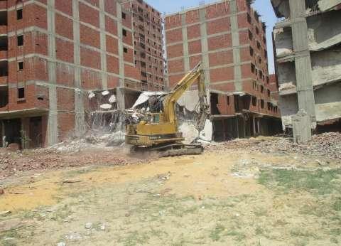بالصور| رئيس حي دار السلام: هدم 4 عقارات مخالفة واستمرار حملة إزالة التعديات