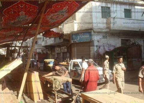 رفع 304 حالات إشغالات من شوارع كفر الشيخ