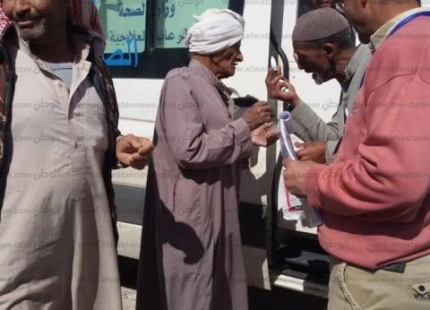 بالصور  توقيع الكشف الطبي علي 152 مريضا بقافلة وادي مندر