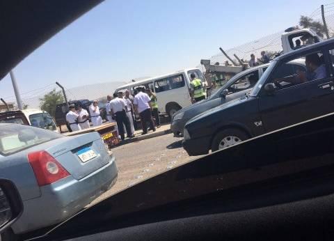 إصابة 8 أشخاص في حادث انقلاب سيارة بالشرقية