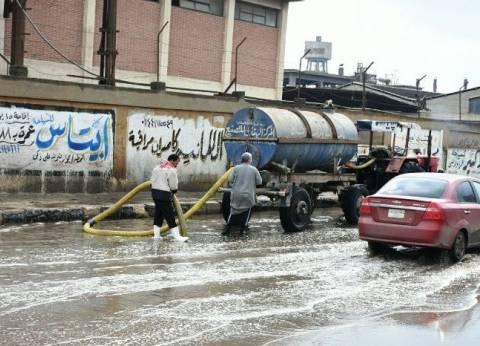 محافظ الشرقية: شفط مياه الأمطار من الشوارع والميادين الرئيسية