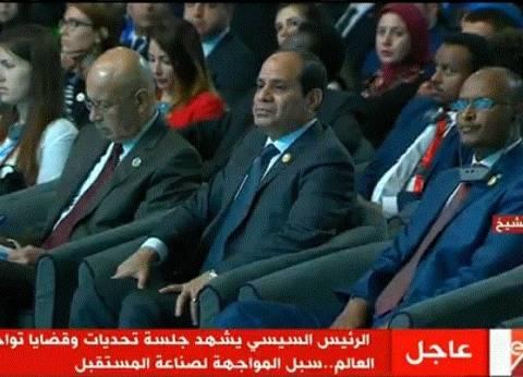 """السيسي: """"أنا عاوز المصريين هما اللي يحموا دولتهم مش أنا"""""""