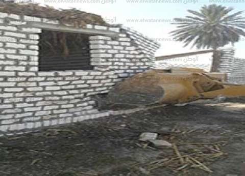 إزالة 43 حالة تعد على أراضي زراعية بمساحة 9970 مترا في بني سويف