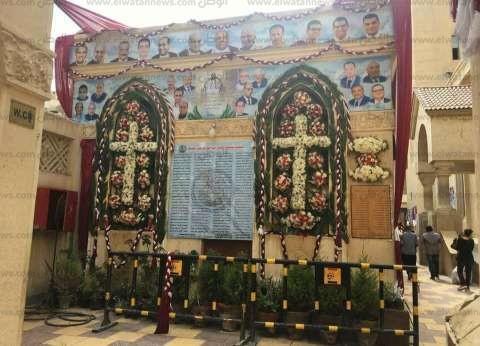القومي لرعاية أسر الشهداء يزور كنيسة مار جرجس في طنطا