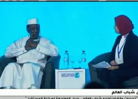 رئيس تشاد للشباب: تخلوا عن اليأس واعملوا