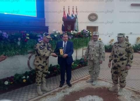 جامعة بني سويف تشارك في تكريم قوات الصاعقة لأسر الشهداء