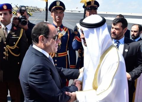 السيسي وبن زايد يعقدان جلسة مباحثات تتناول أزمة الخليج