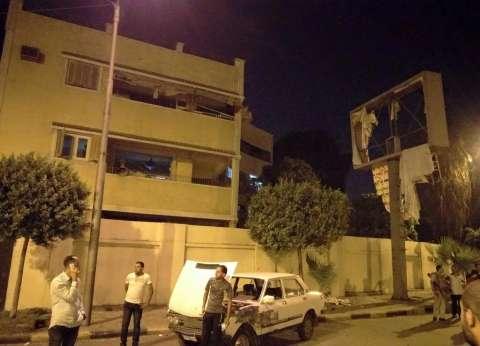 البحث الجنائي يصل لموقع حادث مقر الأمن الوطني
