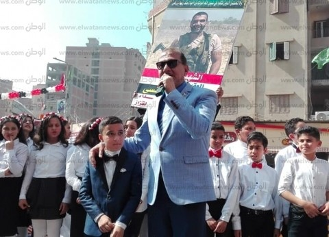 بالصور  افتتاح نصب تذكاري للشهيد أحمد منسي بمسقط رأسه في الشرقية