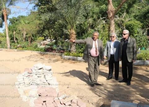 بالصور| محافظ جنوب سيناء يتفقد تطوير المشاية ومتحف النباتات