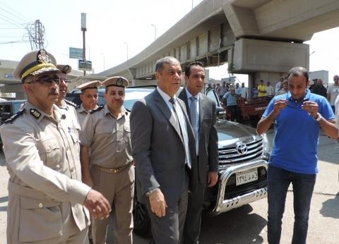 بالصور.. مدير أمن القليوبية يقود حملات إزالة الإشغالات ببنها وشبرا