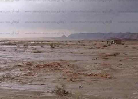 سقوط أمطار غزيرة فجر اليوم في وسط سيناء