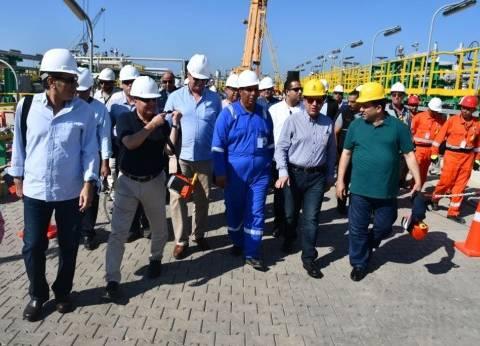 """وزير البترول: إنتاج """"ظهر"""" سيصل لـ 2 مليار مكعب غاز يوميا سبتمبر القادم"""